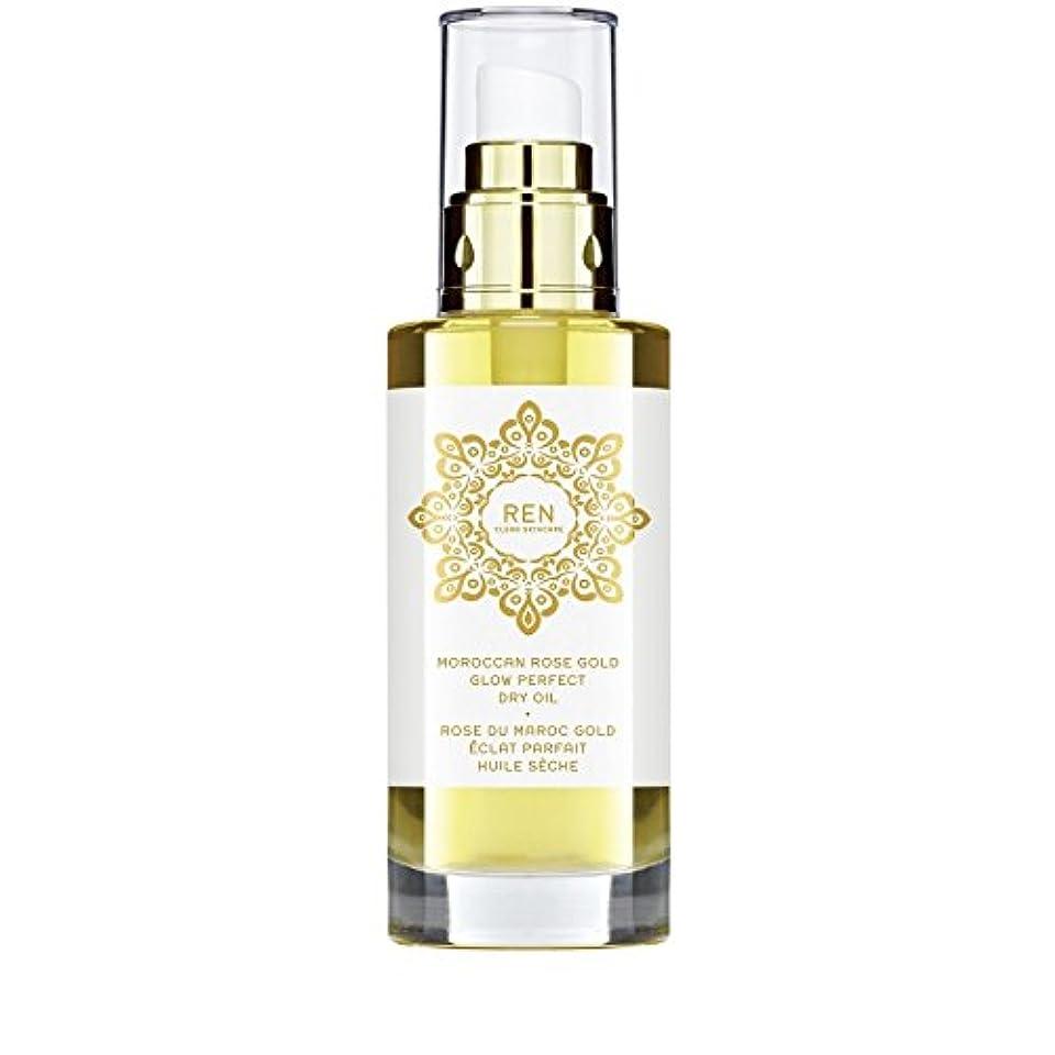 フルーツフィード気性モロッコは金が完璧なドライオイル100ミリリットルグローバラ x2 - REN Moroccan Rose Gold Glow Perfect Dry Oil 100ml (Pack of 2) [並行輸入品]