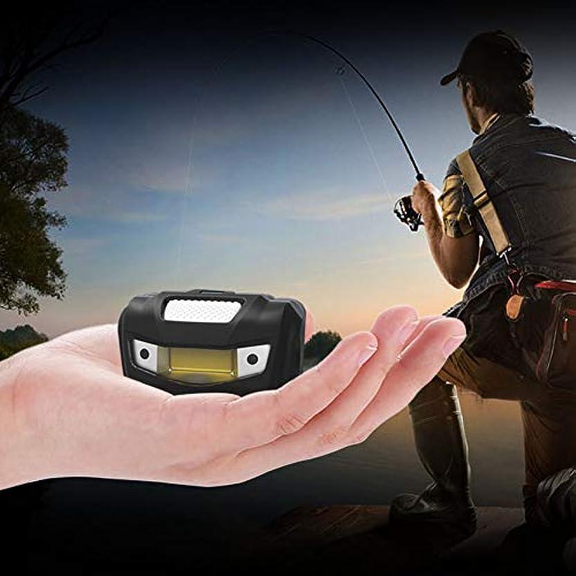 リース訴えるマッシュACHICOO ヘッドライト ソーラーライト ミニ COB センサー 誘導 ヘッドランプ キャンプ 懐中電灯 狩猟 ヘッドトーチ