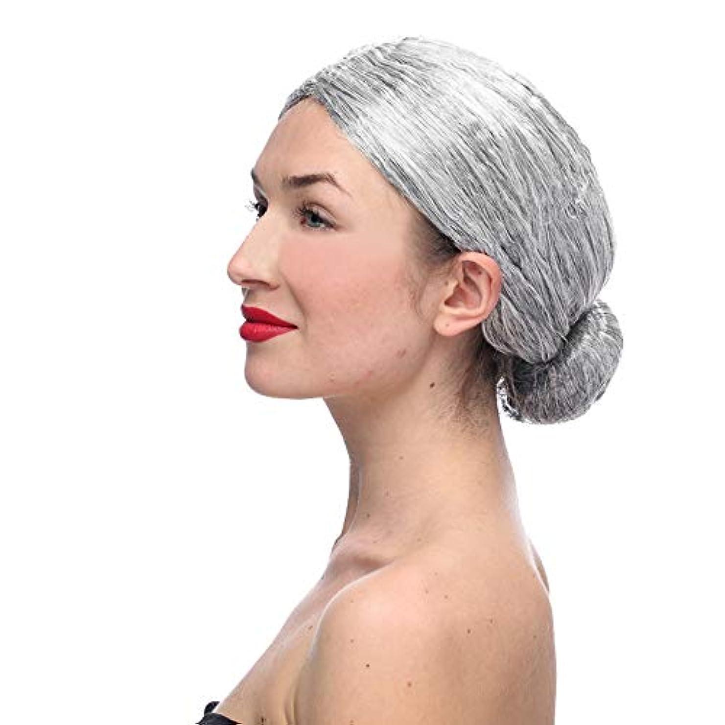 口ひげ欲求不満珍しいかつらおばあちゃん灰色かつらCOS小道具かつら