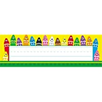 Trend Enterprises Inc. T-69013BN Colorful Crayons Desk Toppers Name Plates 36 per Pack 12 Packs [並行輸入品]