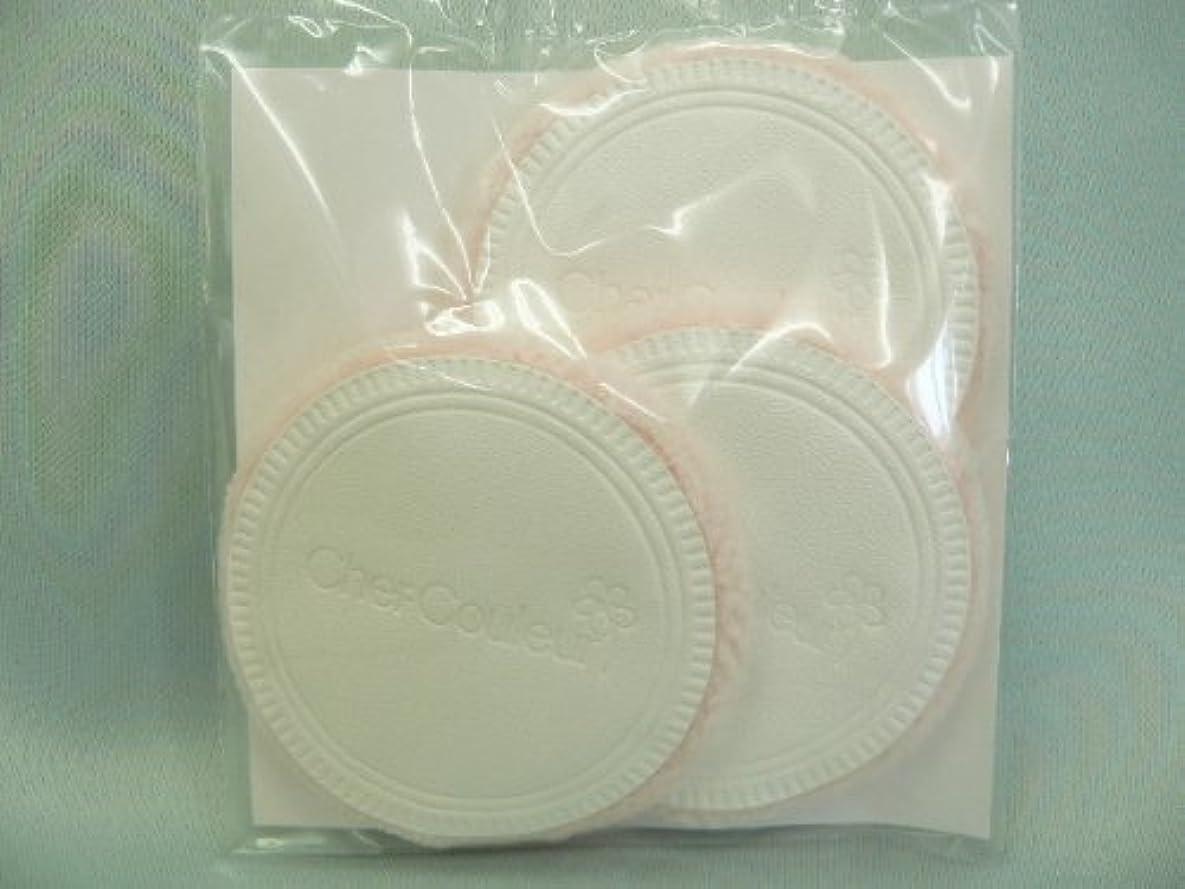 透明に植生名誉あるシェルクルール化粧品プロテクトパウダー専用ケース(パフ付き)