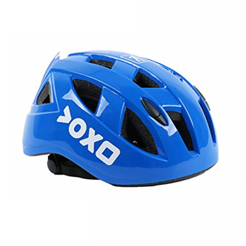 ヘルメット こども 用 子供 自転車 超軽量 調整可能 幼児 キッズ 小学生 スケートボードなど適用 スポーツヘルメット【Anyfahison】(青, M)