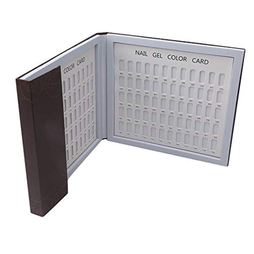 策定する拒絶する本Largesoy カラーチャートブック 折り畳み式 ネイルマニキュアカラー色見本 ネイルカラーチャート 120色/80色 サンプル帳 色見本帳 3# 長さ*幅*厚さ24*22*2cm
