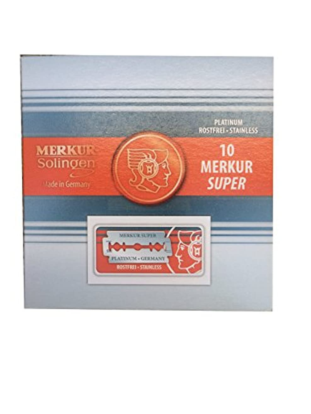 幾何学省略する攻撃的Merkur Super Platinum 両刃替刃 100枚入り(10枚入り10 個セット)【並行輸入品】