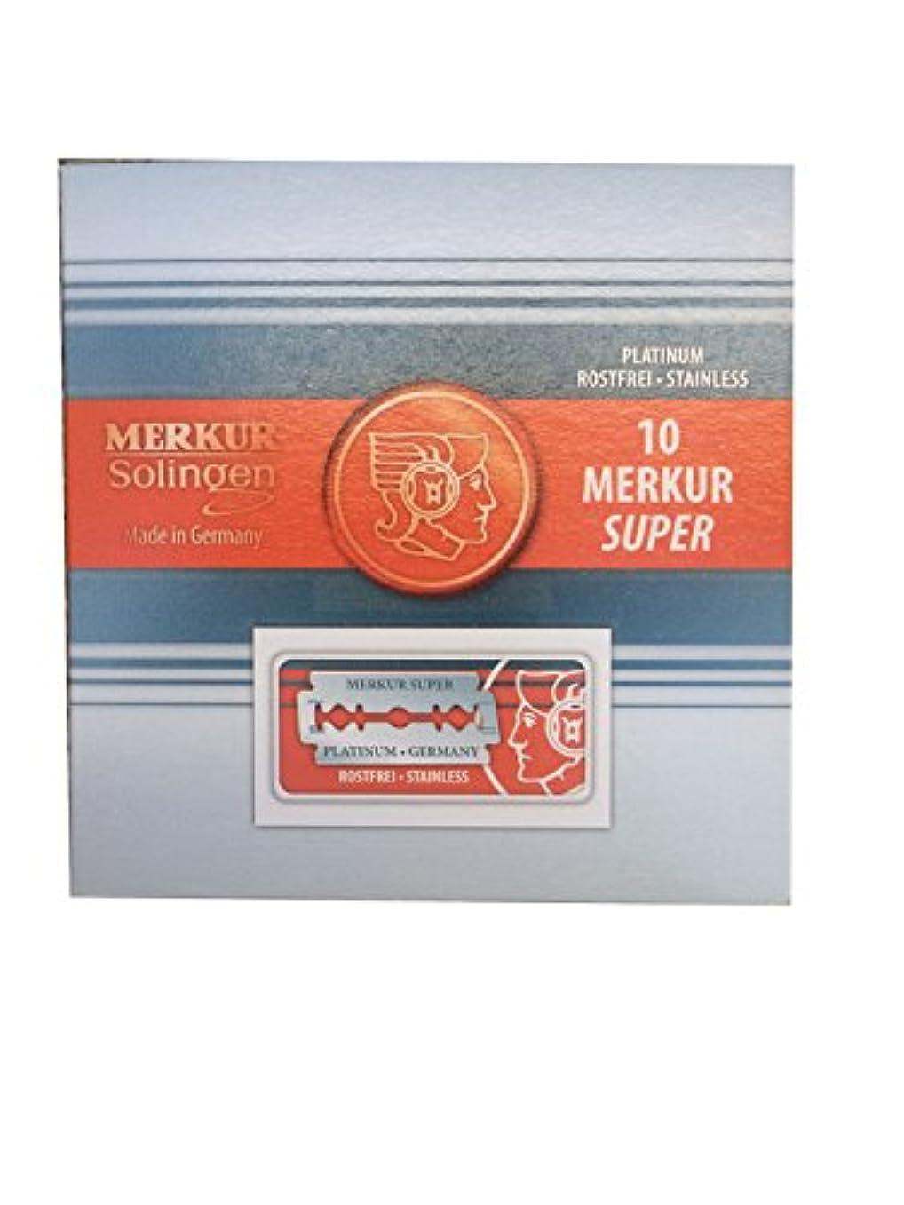 不純リマーク失望させるMerkur Super Platinum 両刃替刃 100枚入り(10枚入り10 個セット)【並行輸入品】