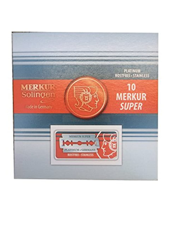 港白いつかまえるMerkur Super Platinum 両刃替刃 100枚入り(10枚入り10 個セット)【並行輸入品】