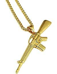 MCSAYS Hip Hop 18K Gold Plated M4 高品質 メンズ アクセサリー