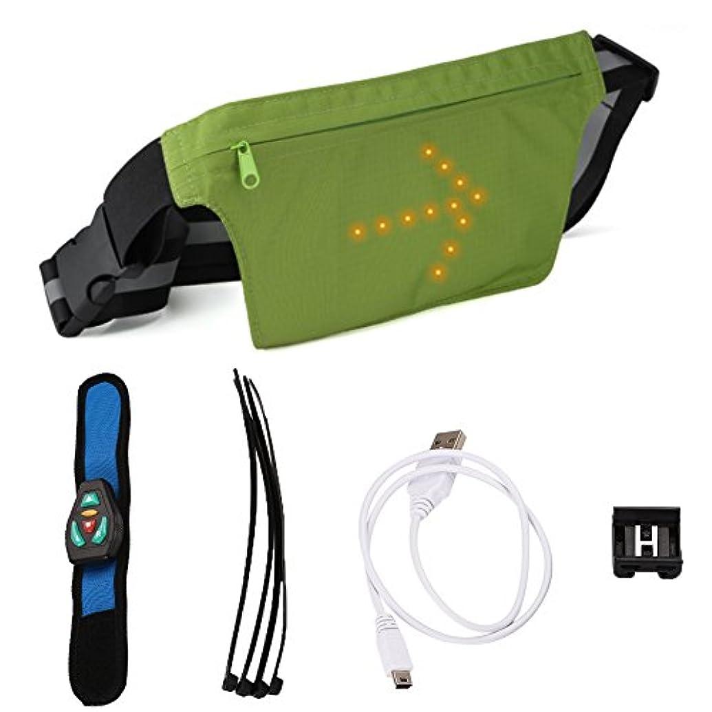 ベスビオ山へこみ延期するxinzhiウエストバッグ、明るい警告ポケット収納バッグ屋外用ライディング、ウォーキング、旅行用多機能バッグ - ダークグレー