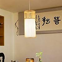 シャンデリア シーリングライト 家の装飾照明中国風シンプルな竹とつるの長いシャンデリアE27電球付きレストランティーハウスリビングルーム (色 : AC220V)