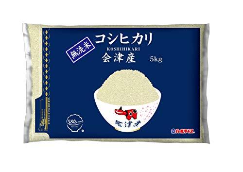 【精米】[Amazon限定ブランド] 580.com 会津産 無洗米 コシヒカリ 5kg 平成30年産