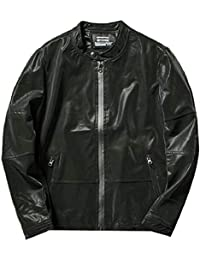 gawaga メンズウインドブレーカーボンバージャケット軽量屋外スポーツコート