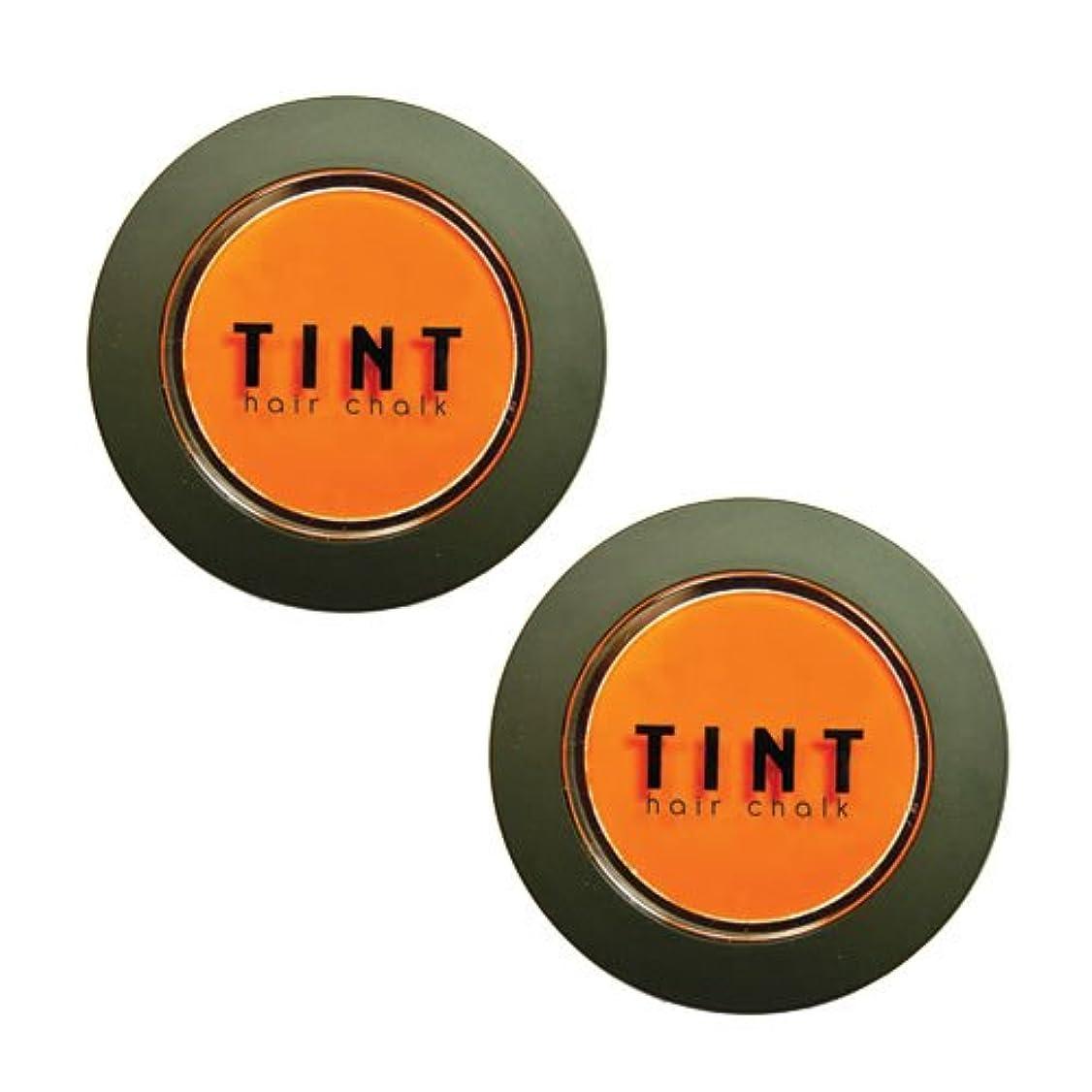 是正する中止します基本的なFINE FEATHERHEADS TINTヘアチョーク Tangerine Dream 2個セット
