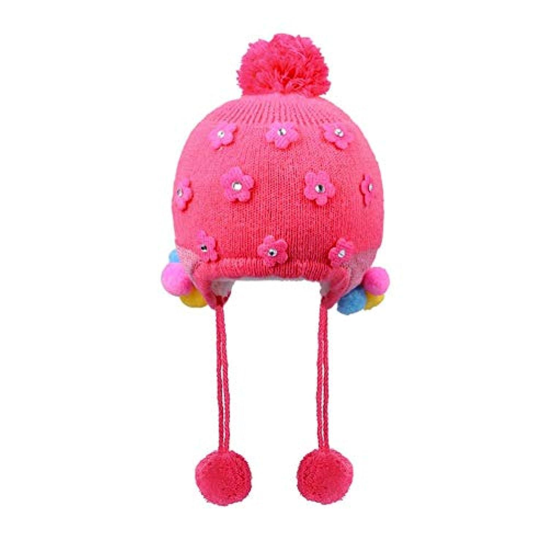 ニット帽 赤ちゃん 耳保護付き 柔らかい 暖かい ピンク 子供用 ニット帽子 4色選べる 可愛い 防風?防寒?保温 春 秋 冬 Runcircle