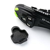 Kobwa自転車靴クリートカバーセット、バイクサイクリングCleat Covers for Look Keoペダルクリートシステム、ブラック1ペア