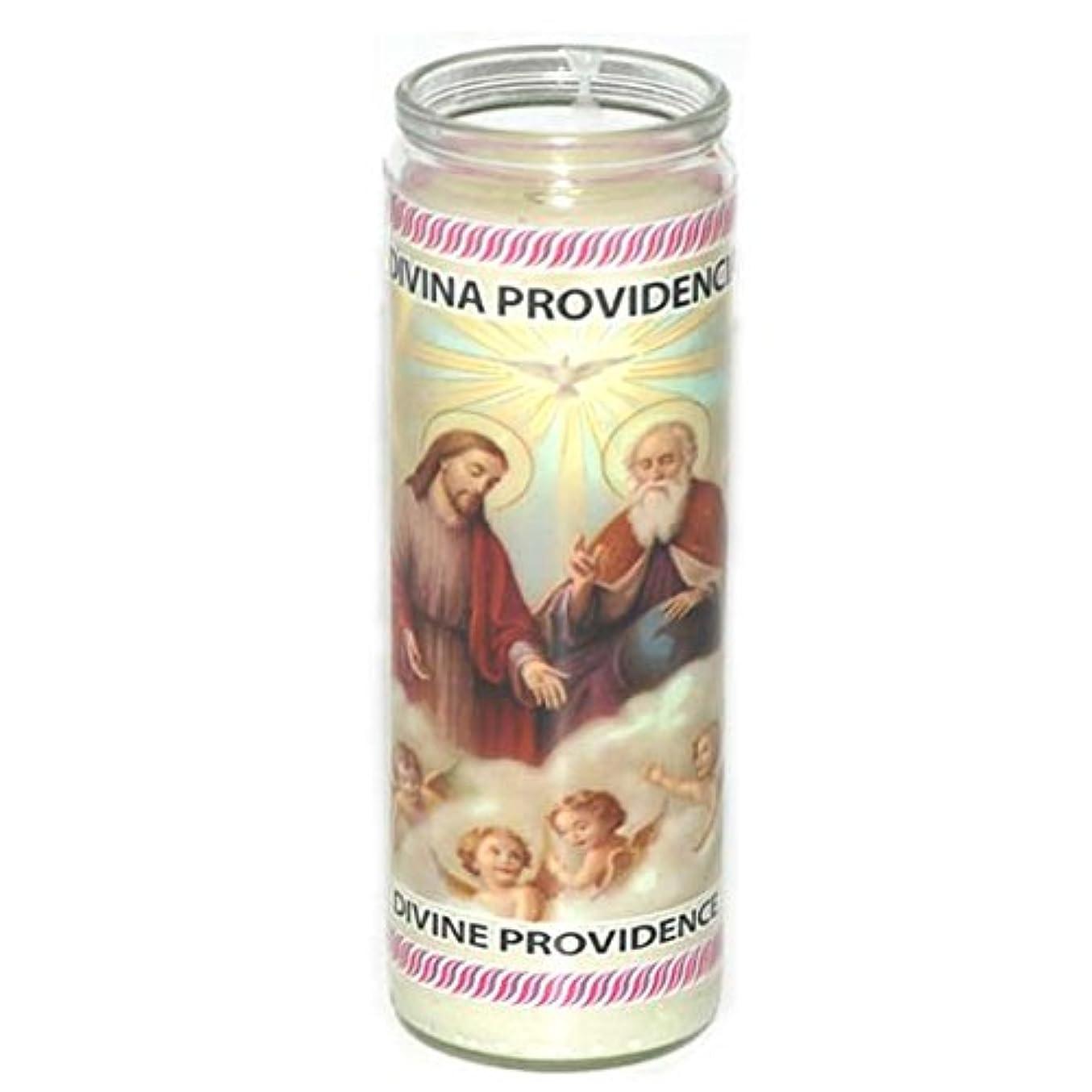 かき混ぜる慢読み書きのできないGlass Candle Divina Providencia , Case of 12