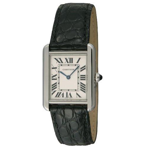 [カルティエ]CARTIER 腕時計 タンクソロ シルバー 黒革 W5200005 レディース 【並行輸入品】
