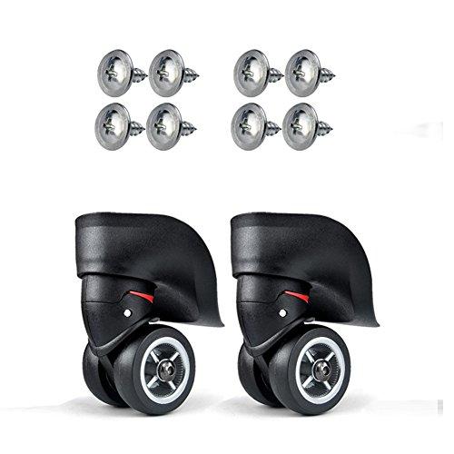 [해외]가방 바퀴 캐스터 교체 대용품 교환 360도 회전 저소음 부드러운 내구성 가방 운반 상자 등의 바퀴 보수 용 DIY 수리 높이 9.8cm 지름 4.9cm (1 쌍 (2pcs))/Suitcase Wheel Casters Replacement Replacement Parts Replacement 360 degrees Rotation...