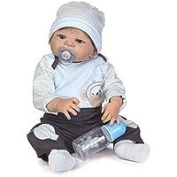 Realistic Lifelike Baby Boy 23 Inch 57cm Soft Silicone Reborn Baby Doll Toddler Toy Handmade Full Body Vinyl Newborn Dolls Anatomically Correct Xmas Gift