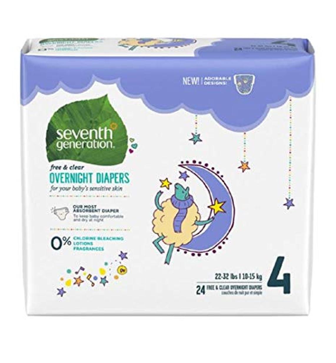 悪用シアー一時停止Seventh Generation Stage 4 Overnight Baby Diaper - 24 per pack -- 4 packs per case. by Seventh Generation