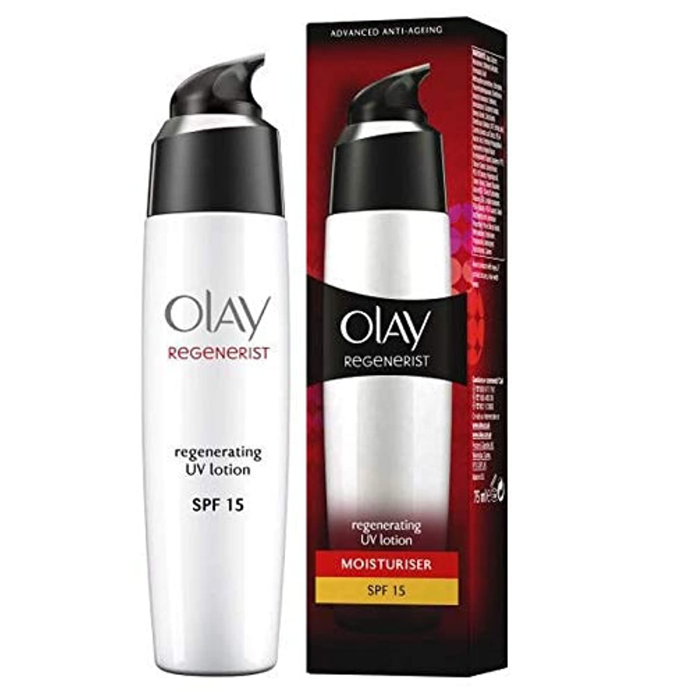 巨大煙突軍[Olay ] リジェネ再生UvローションSpf 15 - Regenerist Regenerating UV Lotion SPF 15 [並行輸入品]