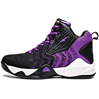 RNNG Unisex Fashion High Top Lightweight Mesh Running Walking Sneakers Tennis Basketball Shoes