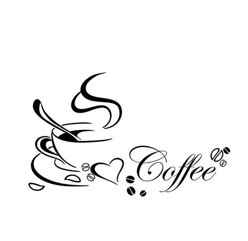 RoomClip商品情報 - Mrlwyウォールステッカーウォールアートデカールコーヒーリビングルームのコーヒーショップ装飾ファッションシンプル寛大な内壁デカール40×65センチ