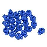 Sharplace 約20個 ショックコード ボールストッパー コードストッパー ロックエンド ファスナー 全5色 - 青