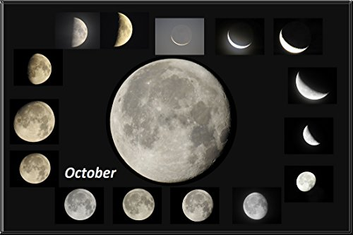 Editing photography Moon phases October 2017 (English Edition)