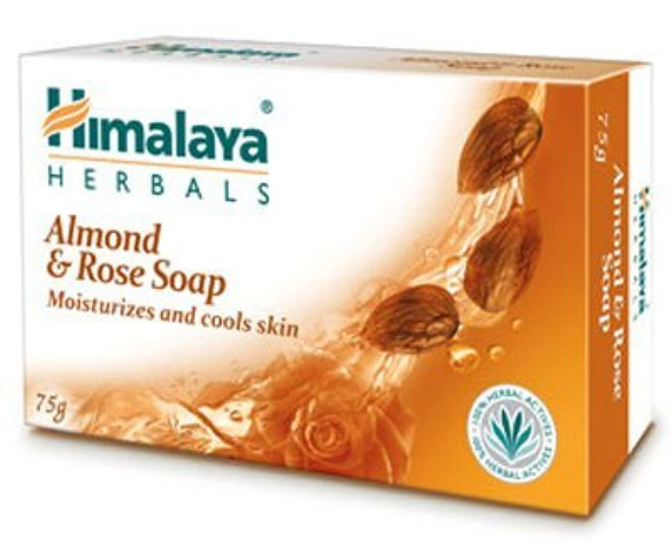 本部取得黒Himalaya Almond & Rose Soap - 125gm