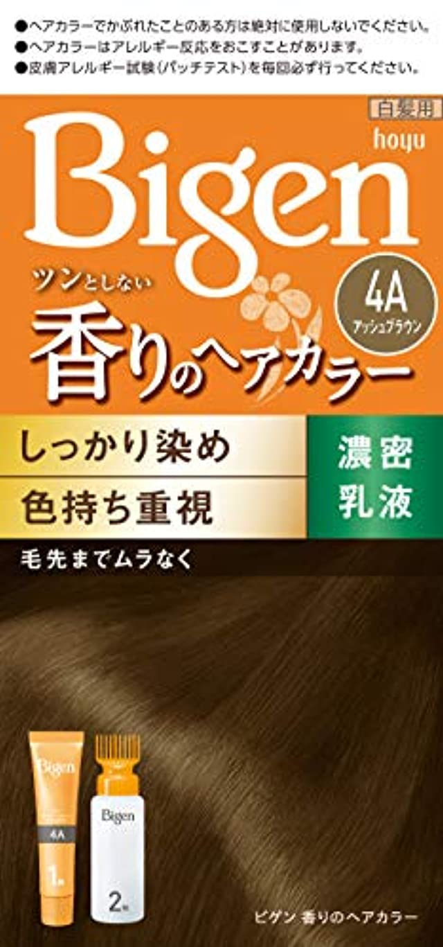 仮定するきょうだいイルホーユー ビゲン 香りのヘアカラー 乳液 4A (アッシュブラウン) 40g+60mL [医薬部外品]