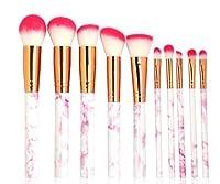 Mcangk 化粧ブラシ10化粧ブラシセット絶妙な化粧ブラシソフトブラシフィットフェイス絶妙な化粧プロの化粧ブラシ繊細な大理石のパターン うまく設計された