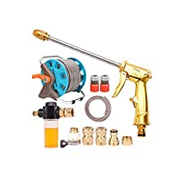 Kehuitong 家庭用高圧洗浄車のウォーターガン、配水管収納ラック、フォームじょうろ、じょうろセット 高品質の製品 1 (Shape : 1, Size : 60m)
