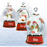 Ganz Snowglobes Todd *ガラスPersonalizedクリスマスオーナメント