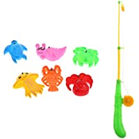 KESOTO 魚釣り プラスチック製 子ども キッズフィッシング玩具 磁気 釣りプレイセット 全7点パック