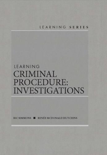 Download Learning Criminal Procedure: Investigative 1628101504
