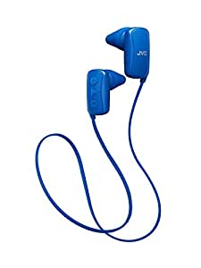 JVC スポーツ用ワイヤレスイヤホン Bluetooth対応 ブルー HA-EB10BT-A