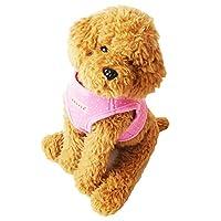 (ケーシティ) k-city PUPPIA パピア 正規品 ハーネス 胴輪 ドット柄 犬服 犬 服 犬の服 ドッグウェア 洋服 Mサイズ ライトブルー