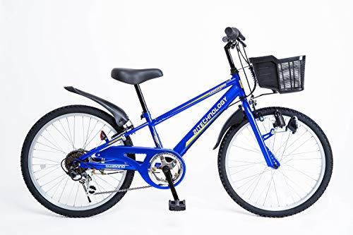 21Technology 22インチ 子供用マウンテンバイク kd226 6段ギア付き(ブルー22)