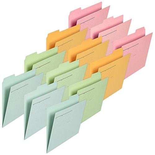 プラス カットフォルダー 再生紙 3山 A4-E 4色色込 12冊セット FL-063IF