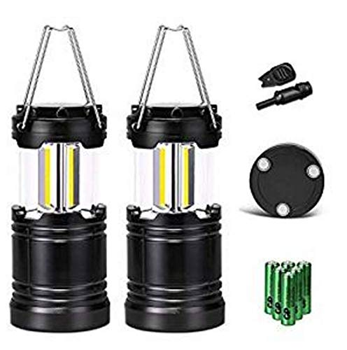 Soniku LEDランタン 高輝度 火打ち石内蔵 LED 携帯型 折り畳み式 ポータブル テントライト 電池付属 防水 防災対策 アウトドア キャンプ用2個セット