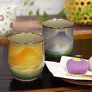 九谷焼 夫婦湯呑み 富士連山 陶器 和食器 湯呑み茶碗 日本製