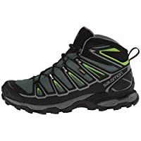 [サロモン] salomon ハイキングシューズ X ULTRA MID 2 GTX L37077000 L37103200 (BETTLE GREEN/BLACK/SPRING GREEN/29)