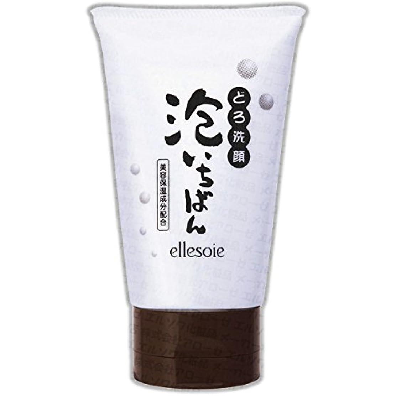 放置梨エルソワ化粧品(ellesoie) どろ洗顔 泡いちばん チューブ容器120g