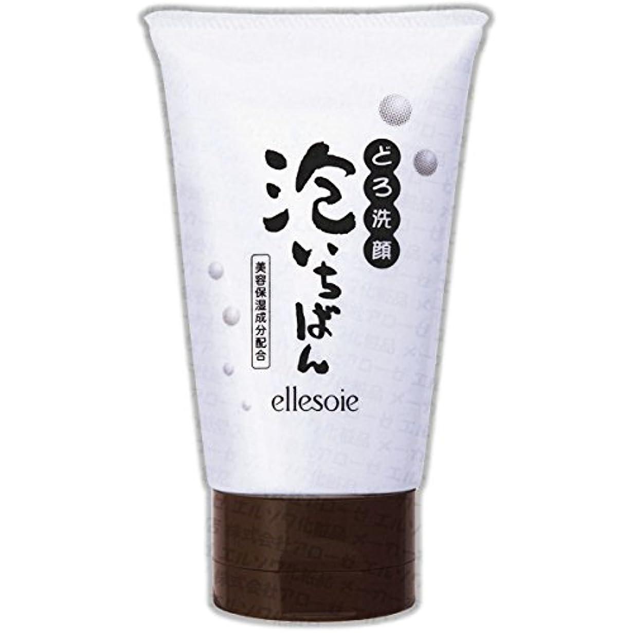 差別化する同行する尽きるエルソワ化粧品(ellesoie) どろ洗顔 泡いちばん チューブ容器120g