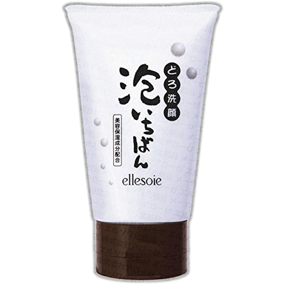 押し下げるサンダーパンエルソワ化粧品(ellesoie) どろ洗顔 泡いちばん チューブ容器120g