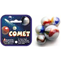 Comet Game Net Set 25 Piece Glass Mega Marbles Toy ( )