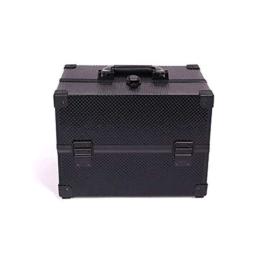 診断する確実放射能BALLEEY 化粧箱アルミケース理髪ボックス美容化粧品フェイクレザーブラックメンズとレディースユニバーサルトラベルバッグレシーブバッグ洗濯バッグ (色 : 黒)