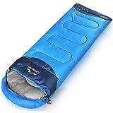 寝袋 シュラフ 封筒型 使用温度 -1℃~10℃ 1.35kg (2カラー) (スカイブルー)