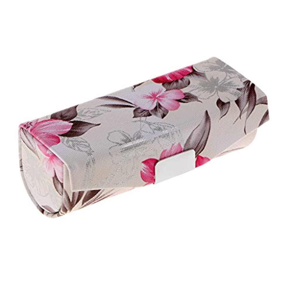 吸収剤コード硬化するCUTICATE 口紅ケース 化粧ポーチ ミラー付き リップスティックホルダー レトロ プレゼント 全3色 - 白
