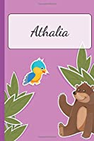 Athalia: Personalized Name Notebook for Girls | Custemized with 110 Dot Grid Pages | A custom Journal as a Gift for your Daughter or Wife | Perfect as School Supplies or as a Christmas or Birthday Present | Cute Girl Diary